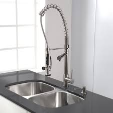kitchen faucet 3 3 compartment sink faucet with sprayer