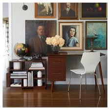 leon mid century desk leon mid century desk walnut angelo home target