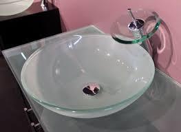 Glass Vessel Sinks Frosted Green Glass Vessel Sink