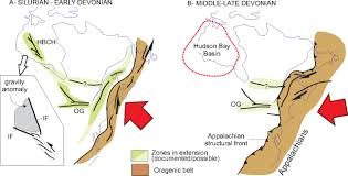 Appalachian Mountains Canada Map by Far Field Effects Of Appalachian Orogenesis A View From The
