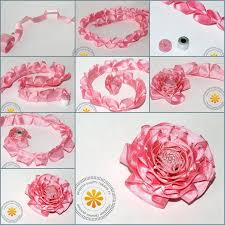 ribbon flowers how to make satin ribbon carnation flower