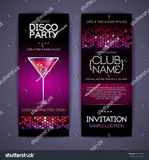 disco corporate identity templates cocktail stock vector 241262047