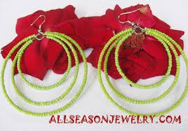 hoop beaded earrings bead earring handmade earring jewelry bali shop in kuta