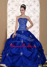 quince dress embroidery taffeta strapless modest quinceanera dress with