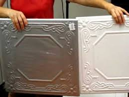 Polystyrene styrofoam Do It Yourself Decorative Ceiling Tiles how