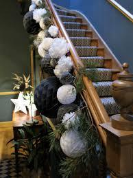 paper pom pom christmas stair around the houses