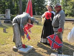 Grave Marker Flags Sons Of Confederacy Replace Flags On Graves Georgia Power Removes