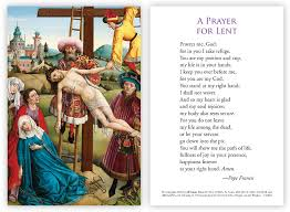 prayer card lent holy week prayer card