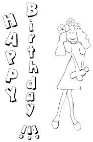 birthday cake coloring page happy birthday mom banner for kids to