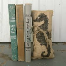navy shell burlap pillow 16 coastal accent loversiq