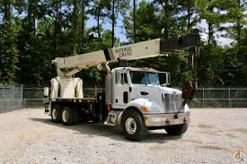 national 9125a mounted to 2007 peterbilt 340 chassis crane for