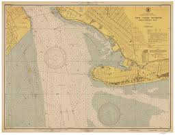 Map Of New York Harbor by Gravesend Bay Ny 1946 Nautical Map New York Harbor