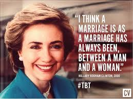 Traditional Marriage Meme - hillary supported traditional marriage not same sex marriage