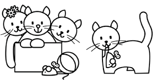 kittens love play colouring ages 14 u0026