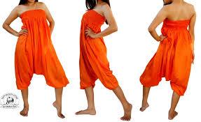 orange jumpsuit orange jumpsuit romper wear 2 ways baggy harem