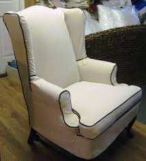 Bed Bath And Beyond Slipcovers Furniture Vintage Floral Wing Chair Slipcover Design Appealing