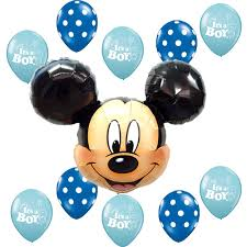 baby shower supplies mickey mouse blue polka dots it u0027s a boy foil