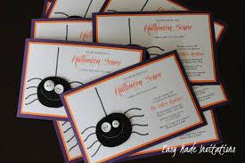 homemade halloween birthday invitations