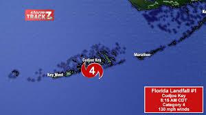 Map Of The Florida Keys by Hurricane Irma U0027s Florida Landfalls