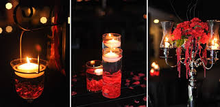 Black And Red Vase Black Silver Dripping With Blood Red Accents Candlelight