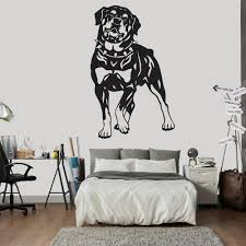 rottweiler and collar portrait canine pet dogs wall sticker home