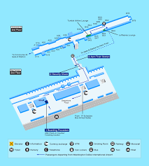 Washington Iad Airport Map by Airport Guide International At The Airport In Flight