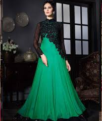 gown dress with price buy green satin silk party wear gown 71839 online at lowest price
