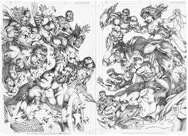 marvel vs dc by marcio abreu referencias ilustracion