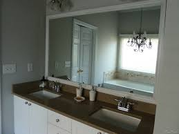 diy framed mirror using standard moldings frame bathroom mirrors