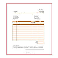 Microsoft Excel Quote Template Price Quotation Price Quotation Template For Word Best 20