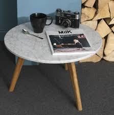 white stone coffee table scandinavian marble table ella james
