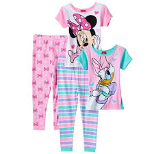 minnie mouse duck toddler tops pajama set
