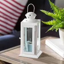 beachcrest home tall candle glass metal lantern u0026 reviews wayfair
