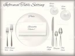 diagram a informal table setting vector stock vector art