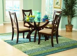 furniture marvelous stardust rich espresso wood round glass