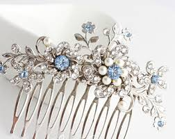 decorative hair combs wedding bridal hair accessories jewelry custom by lulusplendor