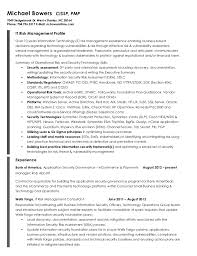 Sample Information Security Resume by Michael Bowers Resume Risk Management Resume Example Sample