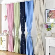 Blackout Navy Curtains Classic Curtains Printing Navy Blue Pink Green Beige