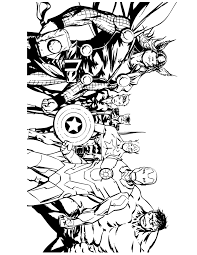 avengers comic coloring page h u0026 m coloring pages
