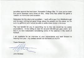 letters of note you were of course the outstanding candidate