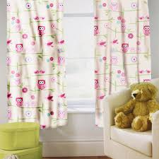 Owl Curtains For Nursery Pink Owl Curtains Nursery Blackout Curtains Eyelet