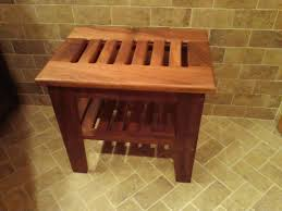 teak shower bench and black mold house design and office