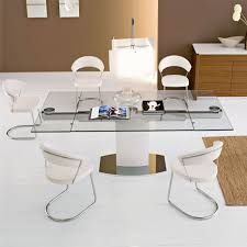 extendable glass dining table round smart with at london home