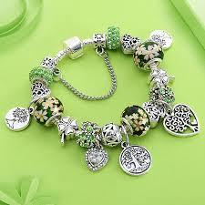 beaded silver bracelet pandora images Dropshipping green tree of life charm pandora bracelet silver jpg
