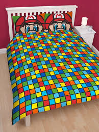 Mario Bros Bed Set Mario Brothers Retro Panel Duvet Cover Bedding Set