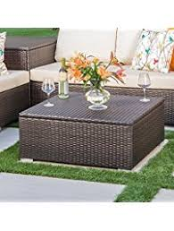 outdoor coffee table with storage patio coffee tables amazon com