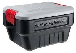 rubbermaid 1170 actionpacker storage box 8 gallon new free