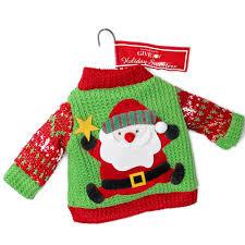 santa sweater ornament the sweater shop