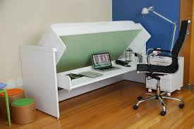 Space Saving Office Desk Ulisse Bed And Desk Space Saving System Amazing White Bed Desk