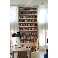Library Bookcases With Ladder Bookcase Wall To Wall Ceiling High Book Shelves With A Ladder